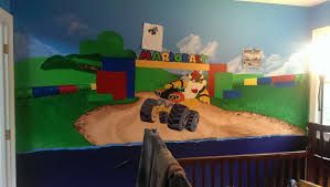 mario kart 8 themed baby nursery i am currently working on wiiu here is a wee bit more featuring the wall i am currently working on
