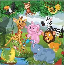 safari cartoon jungles safari cartoon tropical forest animals lion elephant