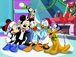 Wallpaper For Kids by Santa Claus And Mickey Mouse Cartoon Christmas Wallpapers For Kids