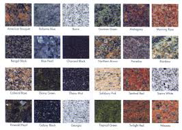 the variety and versatile range of colors granite offers can