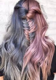 Bob Frisuren Zweifarbig by 2017 Zweifarbige Split Haarfarben Hair Colors