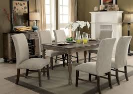 transitional style coffee table siobhan ii transitional style rustic oak finish 7pc dining table set