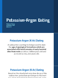 potassium argon dating argon rock geology