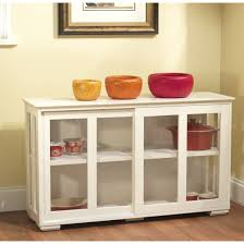 white china cabinet organizer buffet storage kitchen hutch pantry