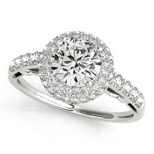 circle engagement ring with halo halo engagement rings white yellow gold or platinum