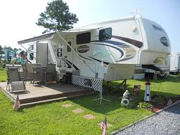 deck on camper camping pinterest decking rv and camping