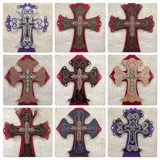 wooden decorative crosses custom order cross hand painted