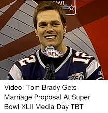 Meme Wedding Proposal - nfb video tom brady gets marriage proposal at super bowl xlii media