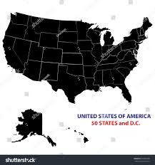 United States Map With States Names by Usa States Map Vector Image All Stock Vector 216064708 Shutterstock