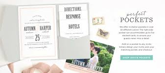 wedding pocket invitations invitations announcements and photo cards basic invite