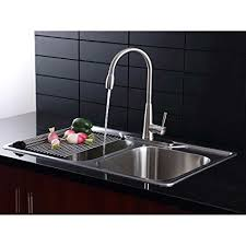 kitchen sink faucet combo afa stainless 33 kitchen sink and pull down faucet combo amazon com