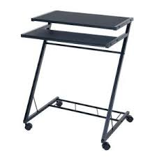 Computer Desk With Wheels Lavish Home Black Laptop Desk With Wheels 80 Ct10080 The Home Depot