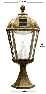 solar lights for driveway pillars amazon com gama sonic royal solar outdoor led light fixture pier