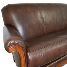Midcentury Leather Sofa 73 Off Thomasville Thomasville Mid Century Leather Sofa Sofas