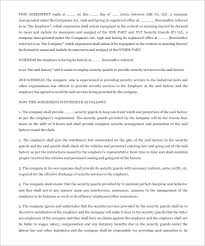 8 security contract templates u2013 free word pdf format download