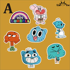travel stickers images 7pcs lot the amazing world of gumball car sticker waterproof jpg