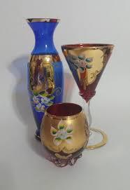 Ruby Vases Bohemian Ruby Red Glass Bud Vase Embellished By Vanzyvantreasures