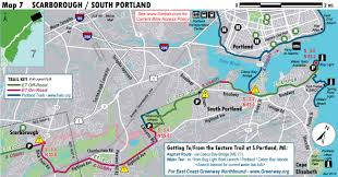 Map Of Portland South Portland Greenbelt Path Great Runs