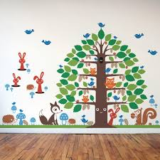 happy tree u0026 animal friends collection wall decal graphic spaces