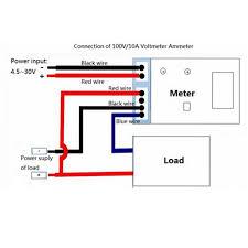 red dc 0 100v 10a ammeter voltmeter gauge amperemeter volt meter