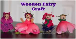 Fairy Garden Craft Ideas - wooden fairy craft idea perfect for summer birthday parties and