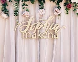 wedding backdrop name large custom last name wedding set wedding sign backdrop