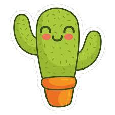 cute plant cactus 02 vinyl custom sticker at great prices chimpstickers com