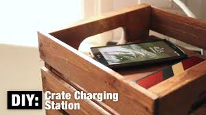 diy wood charging station diy crate charging station the home depot canada