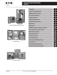 eaton cutler hammer enclosed control catalog tri