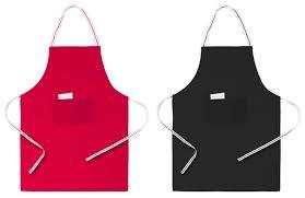 tablier de cuisine personnalisé pas cher tablier publicitaire bicolore à personnaliser avec logo