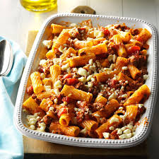 Pasta Recipes by Greek Pasta Bake Recipe Taste Of Home