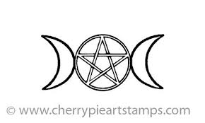 moon symbol goddess pentacle by cherrypie on zibbet