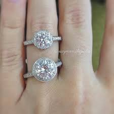 2 carat halo engagement ring size guide