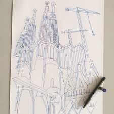 sagrada familia the 1000 dot to dot sketch is now available via