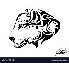 tribal jaguar royalty free vector image
