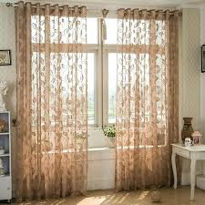 Brown Patterned Curtains Patterned Sheer Curtains Ezpass Club