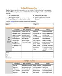 Counseling Assessment Forms Sles Pdf Self Assessment Form Display Screen Workstation Self Assessment