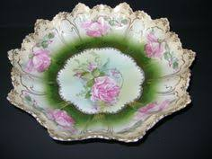 rs prussia bowl roses antique rs prussia gorgeous point and clover mold bowl snowball