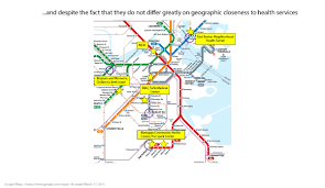 Boston Medical Center Map by Health Inequalities In Boston By T Stops Public Health Post
