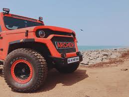 mahindra thar modified to wrangler archer the intensely modified mahindra thar car news maxabout