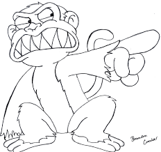 evil monkey sketch by bcarrier on deviantart