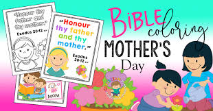 honor your father and mother coloring page mother u0027s day bible coloring pages