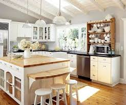 vaulted kitchen ceiling ideas adorable cottage kitchen just enough colour to make it charming