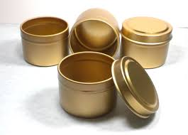 gold tin with lid 2 ounces circle seamless and food