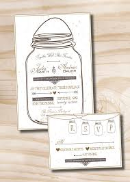 wedding invitations and response cards jar jar rustic wedding invitation and response