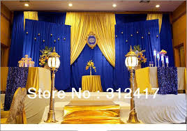 Blue And Gold Home Decor Top Selling Customized Royal Blue And Gold Backdrop For Wedding