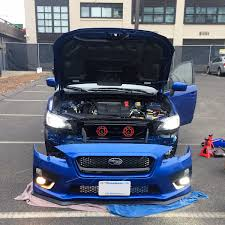 jdm jeep gave my u002715 wrx a facelift with new jdm grille hella horns led