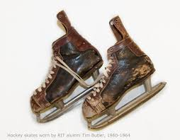 hockey skates worn by tim butler 1960 1964 rit archive collections