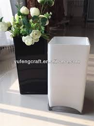 Black Vases Wholesale Wholesale White Square Vase Black Glass Mexican Flower Vase Buy