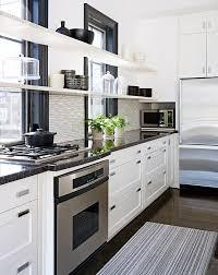 kitchen design simple modern update shelf lights window wall